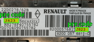 débloquer renault radio code